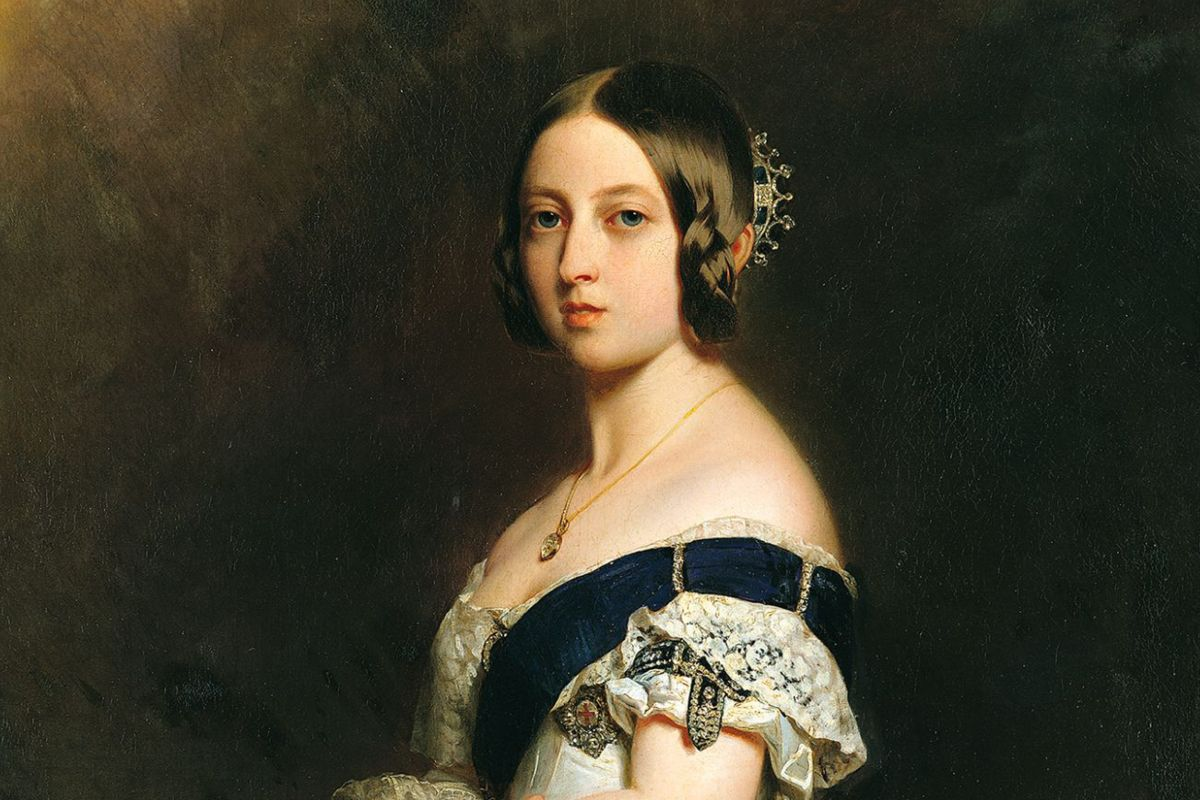 A portrait of Queen Victoria
