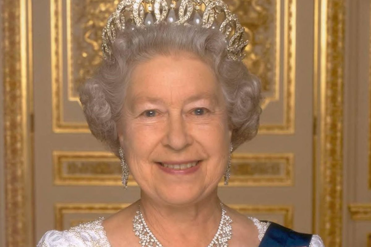 A portrait photograph of Queen Elizabeth